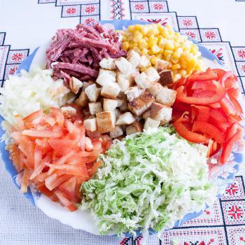 Легкий салат рецепт пошагово